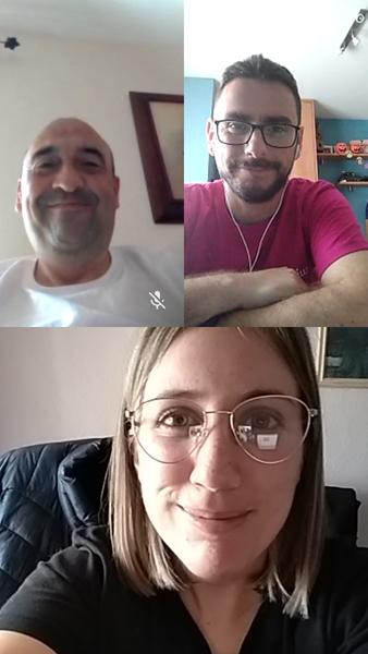 Videollamada con Juan Jesús, Leticia y Francisco