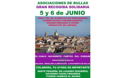 Asociaciones de Bullas colaboran en una recogida de alimentos para Servicios Sociales