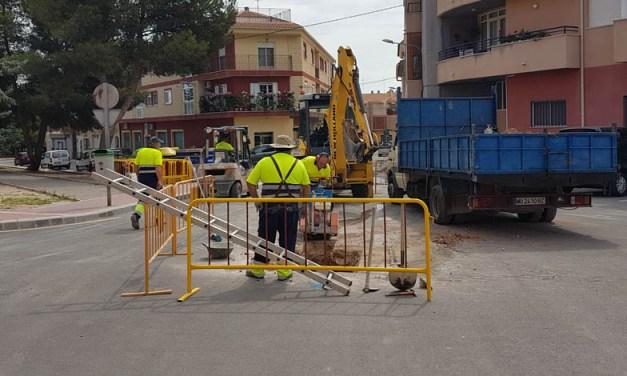 Comienzan las obras en la Calle Núñez de Balboa de Bullas