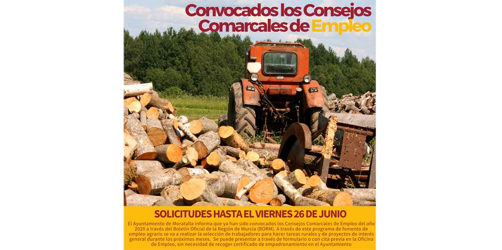 Han sido convocados los Consejos Comarcales de Empleo y su selección de trabajadores para tareas rurales