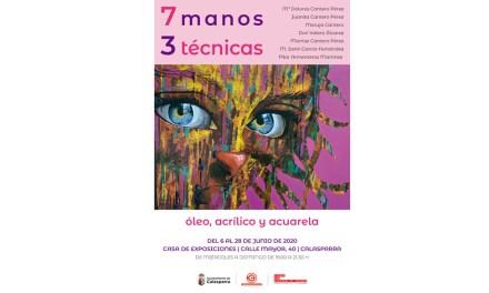 Exposición en Calasparra con el títutlo '7 MANOS 3 TÉCNICAS. Óleo, acrílico, acuarelas'