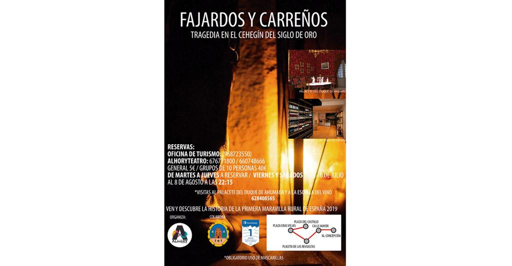 Alhory revivirá este verano la tragedia entre Carreños y Fajardos en el Siglo de Oro de Cehegín