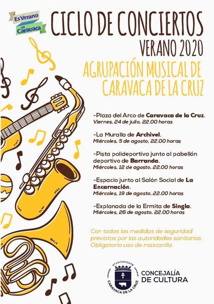 La Banda de Caravaca ensaya desde mediados de junio en el colegio de San Francisco un programa especial dentro de la programación municipal 'Es verano en Caravaca'