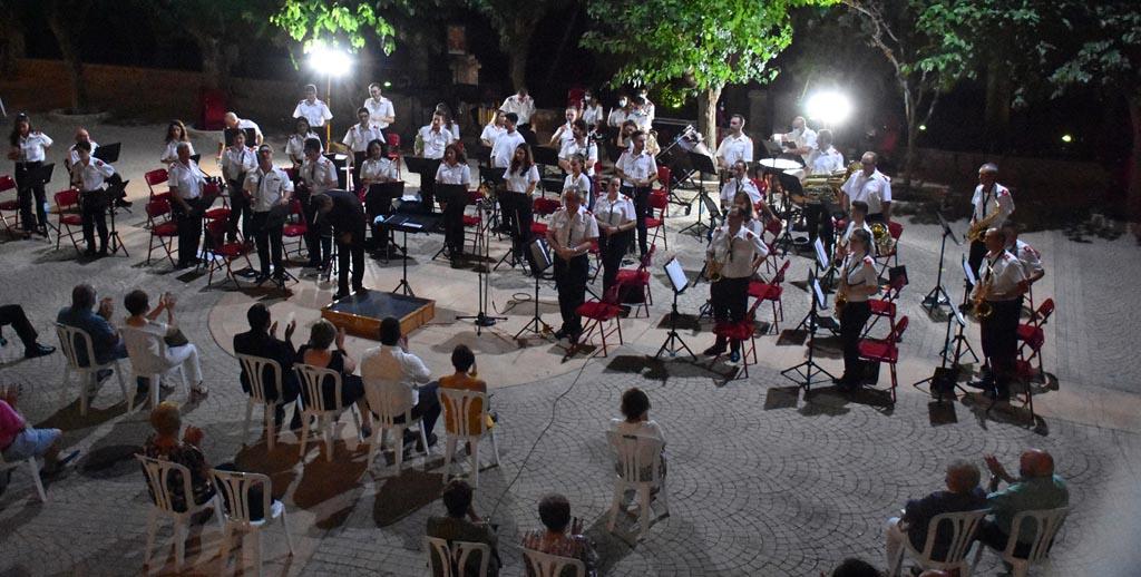 Concierto de la Asociación Banda de Música de Calasparra en el Santuario de Nuestra Señora Virgen de La Esperanza, verano 2020