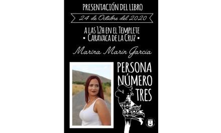 Marina Marín García presenta «Persona número tres» este sábado en la Plaza del Templete