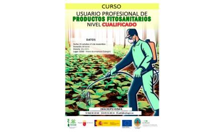 """Ofertado en Cehegín el curso """"Usuario Profesional de Productos Fitosanitarios"""" Nivel Cualificado"""