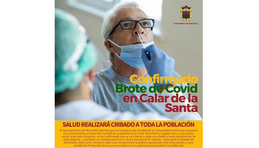 Salud va a realizar un cribado a toda la población de El Calar de la Santa tras un brote de Covid19 a causa de un encuentro social