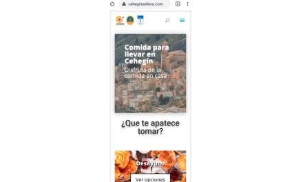 """Comercio crea la web """"Ceheginselleva"""" para facilitar el servicio de comidas a domicilio de la hostelería del municipio"""