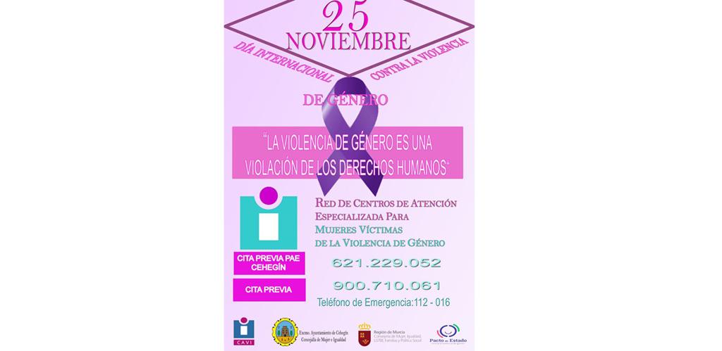 La concejalía de Mujer e Igualdad recuerda que Cehegín cuenta con un Punto de encuentro de Atención Especializada para mujeres víctimas de la violencia de género