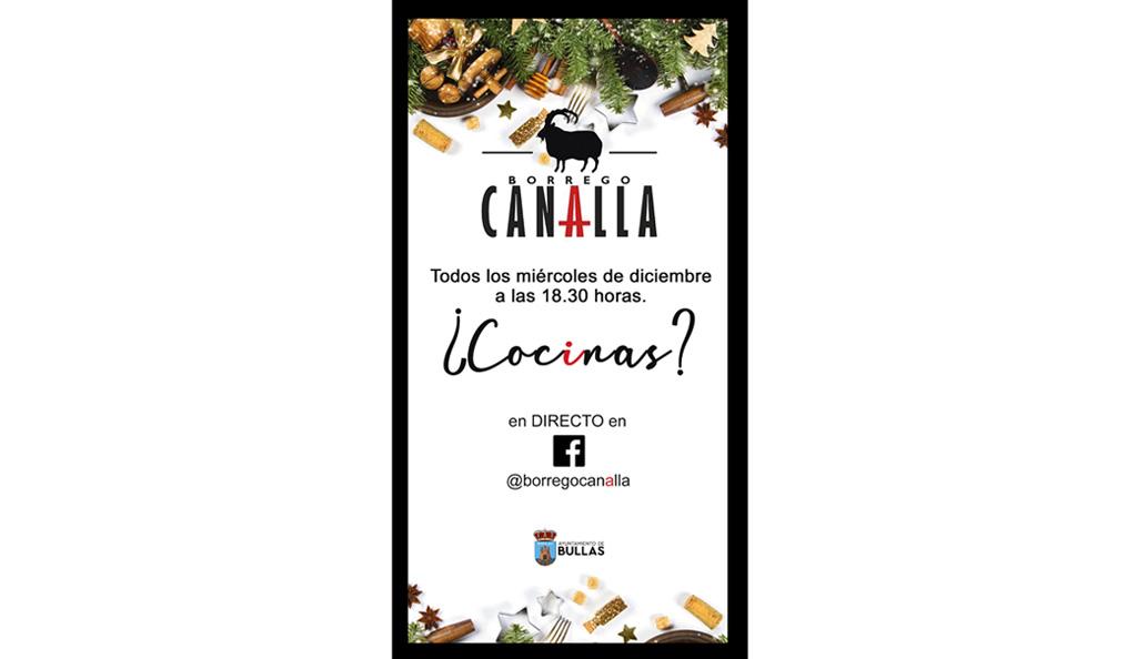 El Ayuntamiento de Bullas te invita a cocinar con Borrego Canalla