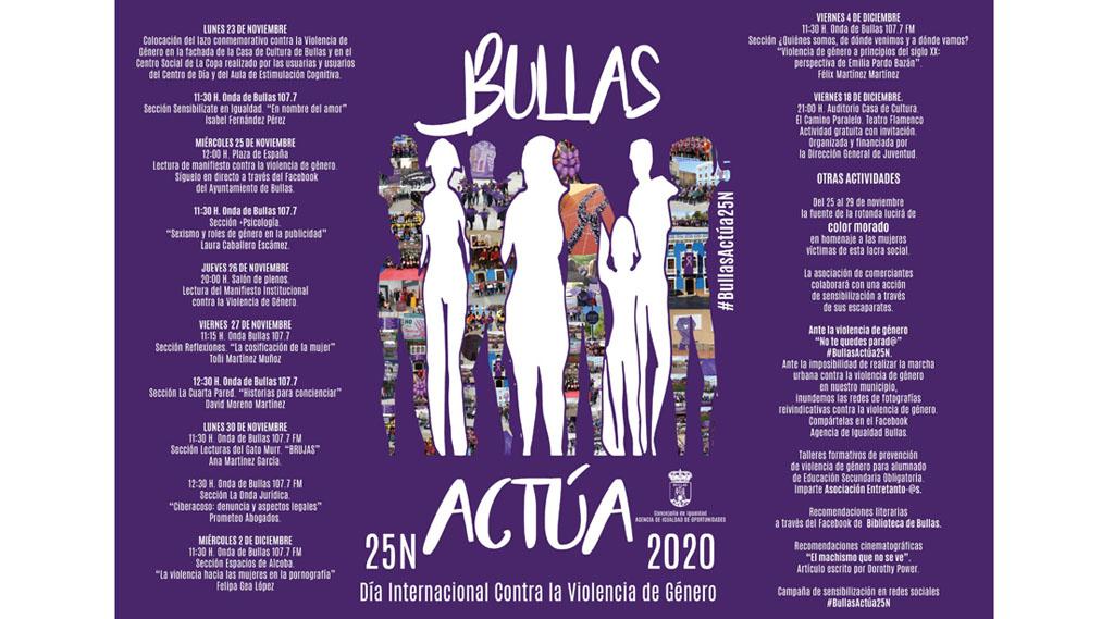 Programación en Bullas del 25-N 'Día contra la Violencia de Género'