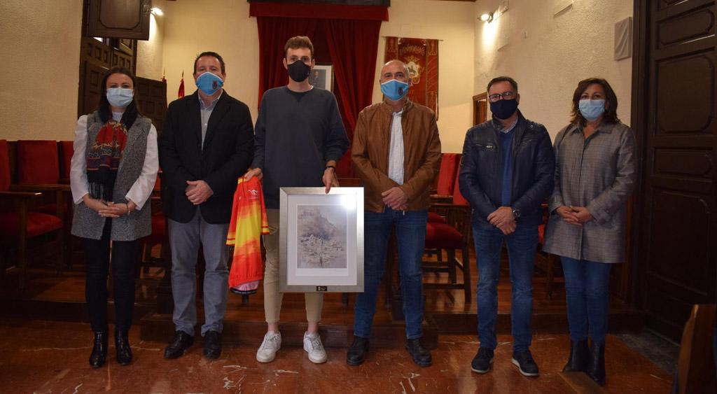 Recepción oficial al ciclista muleño José María García Soriano, campeón de España de Persecución por equipos de ciclismo en pista