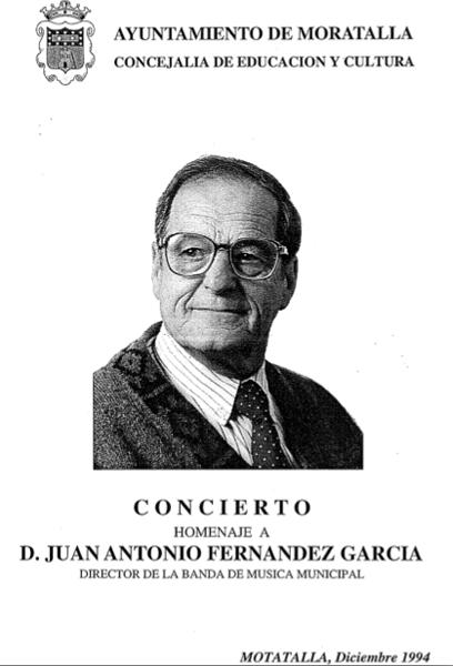 Juan Antonio Fernández García, homenaje en 1994