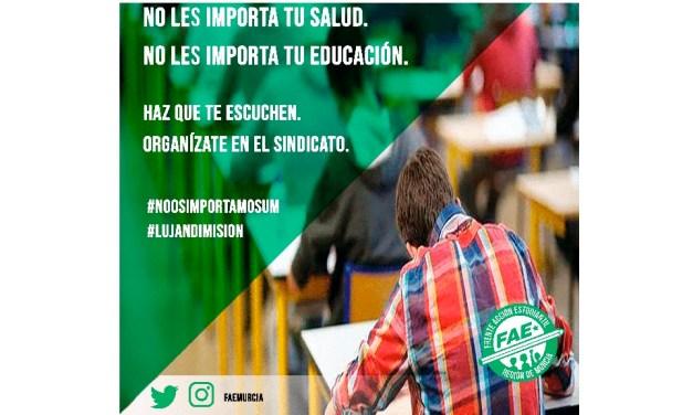 Los estudiantes de la Universidad de Murcia y el Frente de Acción Estudiantil rechazan la solución optada por el Consejo de Gobierno y exigen soluciones reales