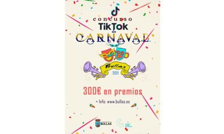 Las concejalías de Juventud y Festejos de Bullas convocan un concurso de Carnaval  a través de Tik Tok