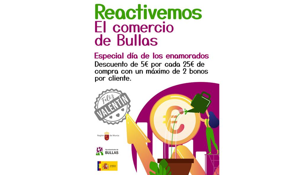 La Concejalía de Comercio lanza la campaña «Reactivemos el comercio de Bullas» coincidiendo con San Valentín