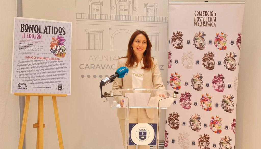 Ana Belén Martínez: «Hasta ahora hemos destinado en torno a 200.000 euros de presupuesto íntegro municipal al comercio y la hostelería de Caravaca»