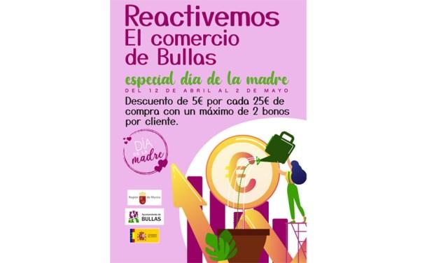 Campaña en Bullas para la reactivación del comercio local especial Día de la Madre