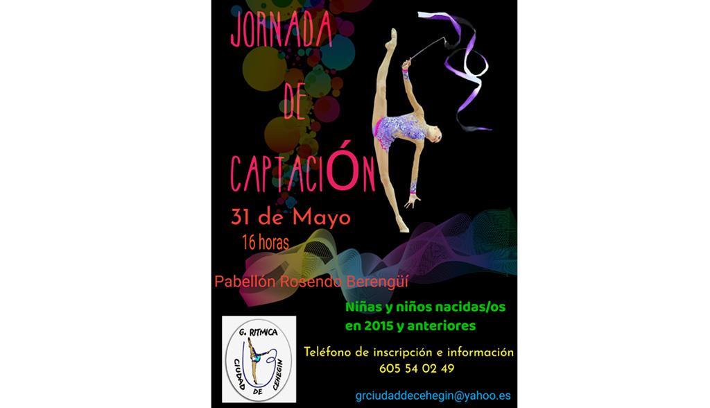 El Club Gimnasia Rítmica Ciudad de Cehegín celebrará una «Jornada de Captación» el 31 de mayo
