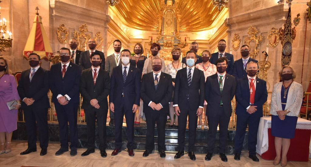Luis Melgarejo Armada y su Junta Representativa toman posesión de sus cargos al frente de la Real e Ilustre Cofradía de la Santísima y Vera Cruz de Caravaca
