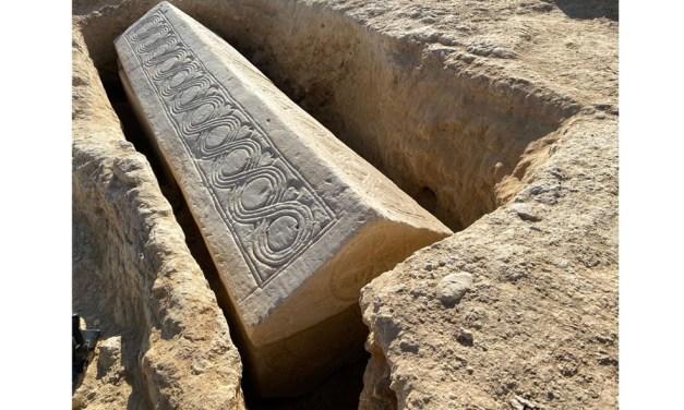 Localizado un sarcófago visigodo en la Villa Romana de Los Villaricos de Mula