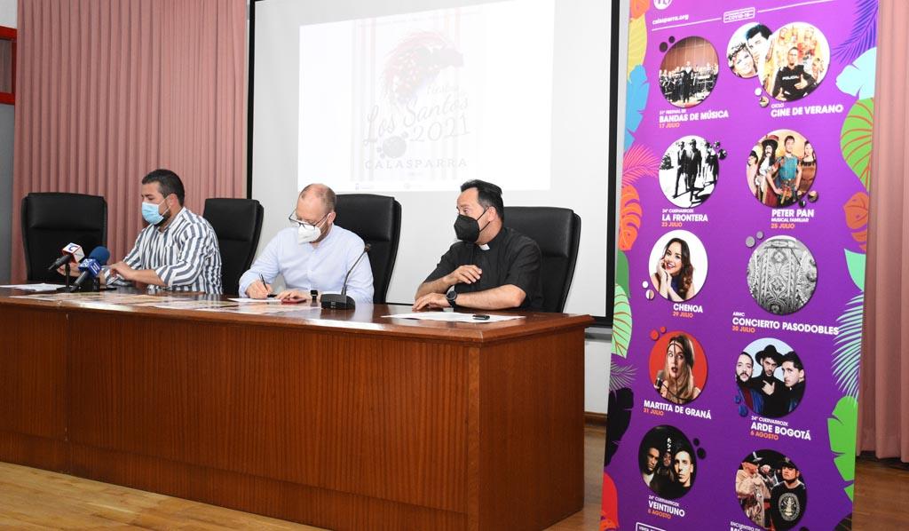 Presentada la programación de las fiestas patronales en honor a San Abdón y San Senén en Calasparra para este año 2021