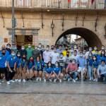 Los equipos absolutos masculino y femenino de fútbol de Caravaca son recibidos en el Ayuntamiento