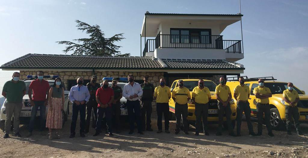 La Comunidad Autónoma mejora el punto de vigilancia forestal de La Rogativa con una inversión de más de 108.000 euros