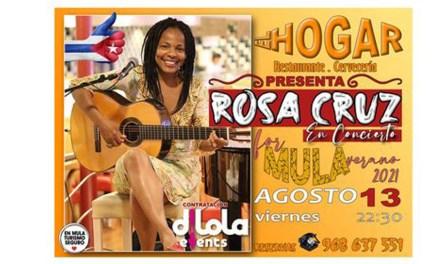 El Hogar de Mula presenta a Rosa Cruz en concierto