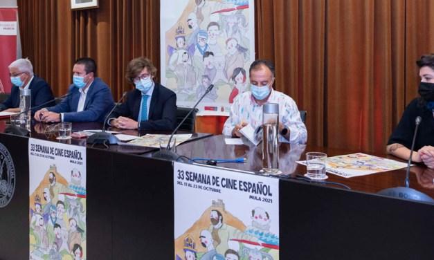 La XXXIII Semana de Cine español de Mula y el XXVIII Certamen Nacional de Cortos se presentan en el Rectorado de la UMU