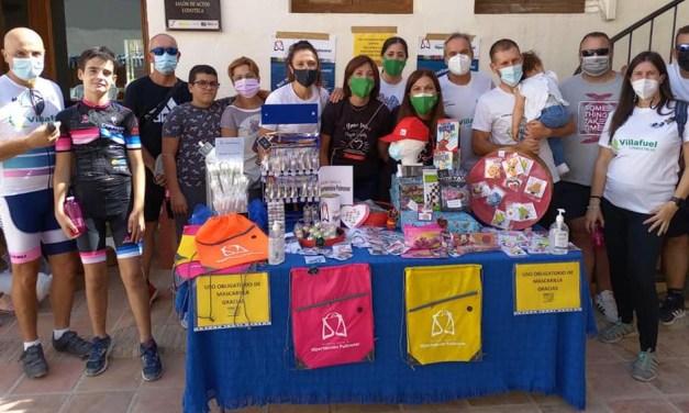 Quedada solidaria organizada por el Club Ciclista Castillo de Mula
