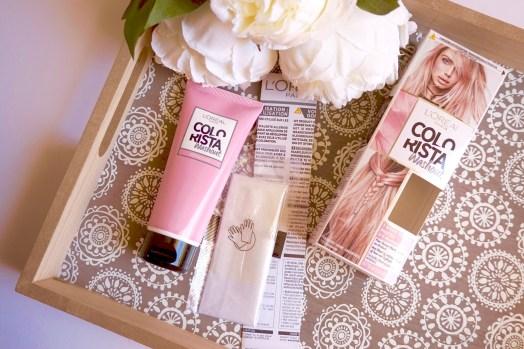 coloration rose pastel l'oréal