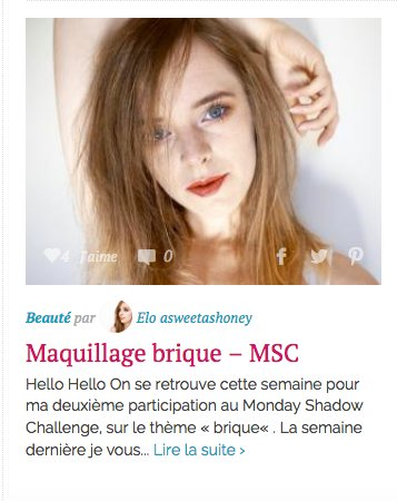 Maquillage Brique