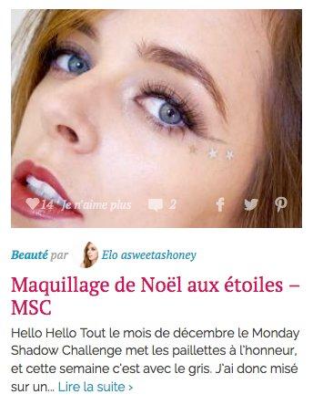 Maquillage Etoilé Noël