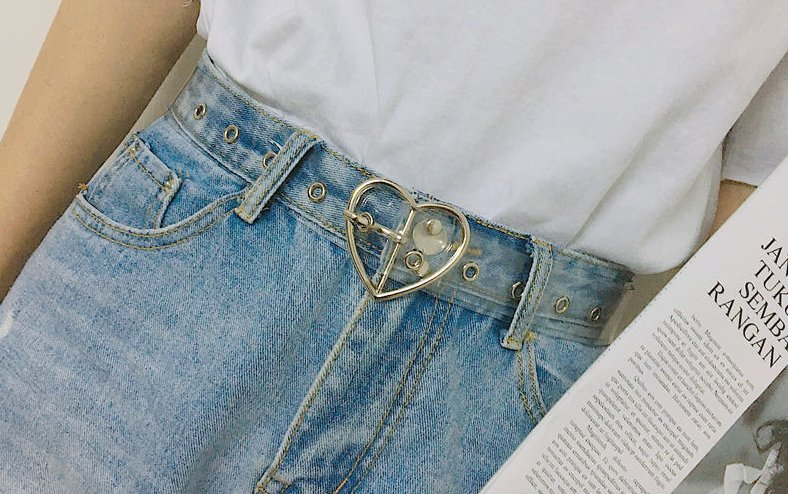 ceinture transparente