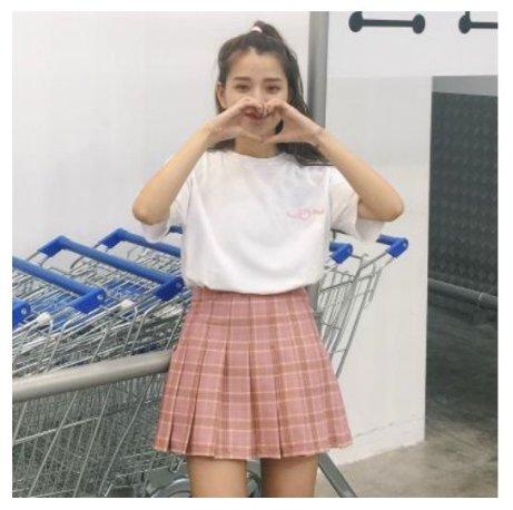 jupe taille haute uniforme
