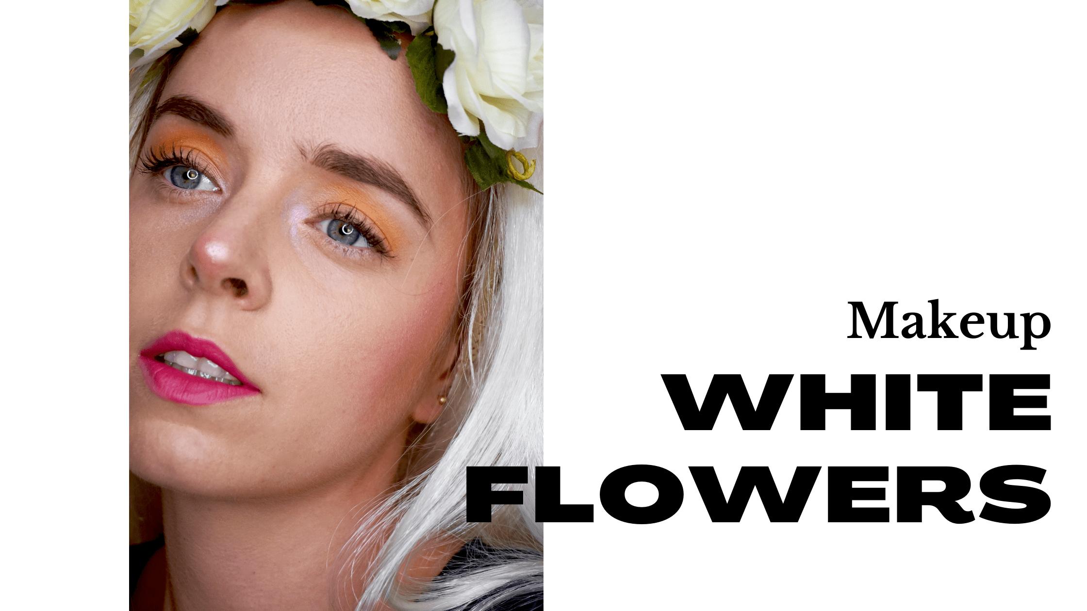 White Flowers Makeup Elora