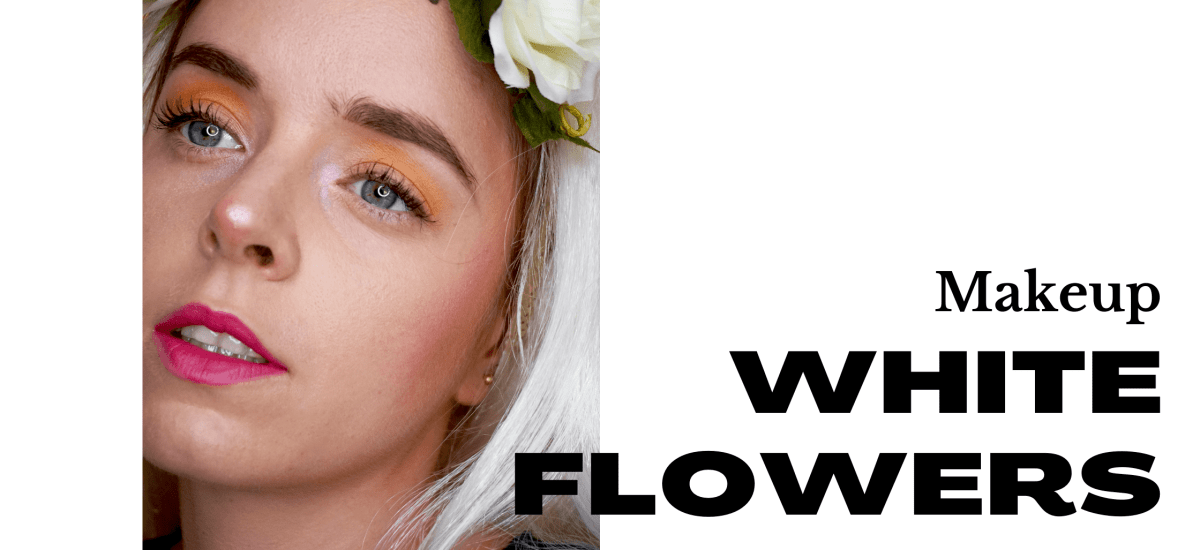 White Flowers Makeup Elora