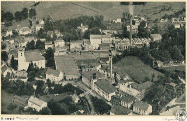 Zakłady lniarskie Websky, Hartmann & Wiesen, w nich zorganizowano obóz Gemeinschaftslager nr 1 - Źródło: dolny-slask.org.pl