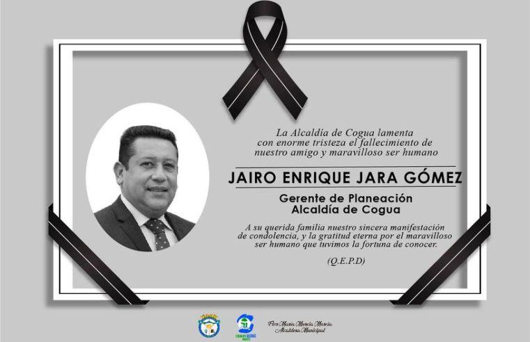 Falleció por Covid gerente de planeación de Cogua