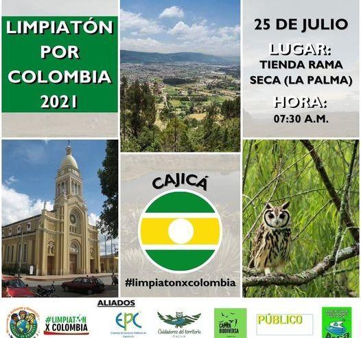 Cajicá se suma a la limpiatón por Colombia
