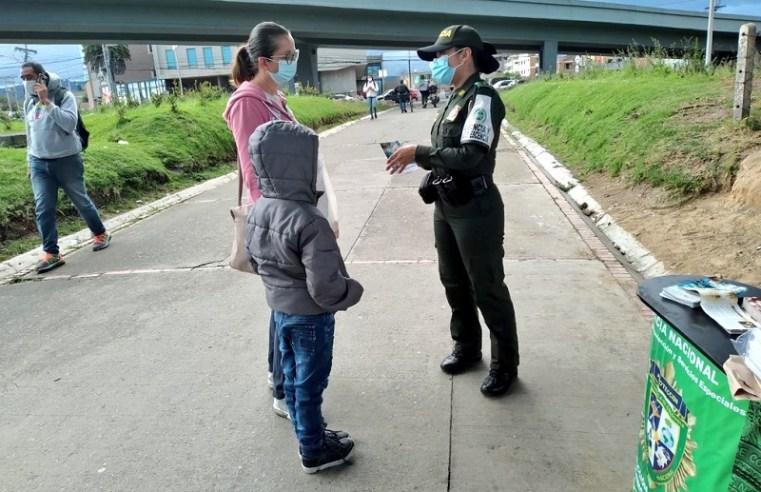 Chía: Policía adelanta campaña contra uso de niños en la mendicidad
