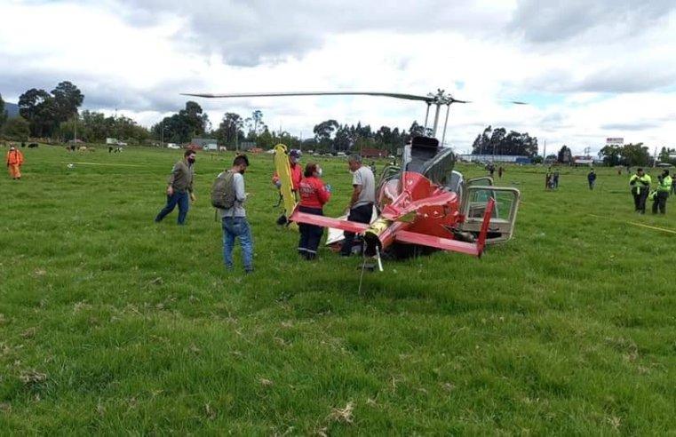 Chía: Helicóptero aterrizó de emergencia en Fonquetá