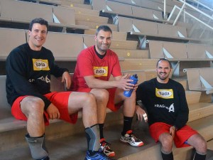 Rochel, Eloy y Novelle en el palacio / Foto: Nacho Viscasillas