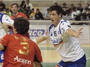 Ely Félez con la camiseta del Granollers en el palacio de los deportes de Huesca / Foto: C.Pascual