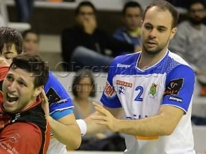 Teixeira jugando con Granollers en Huesca / Foto: C.Pasacual
