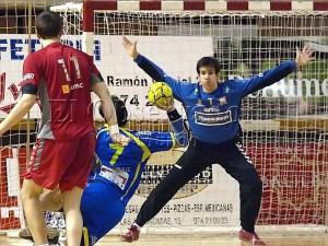 Jorge Gómez en su anterior etapa en el BM Huesca / Foto: C.Pascual