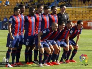 Primera alineación de la sd Huesca esta temporada / Foto: Lfp