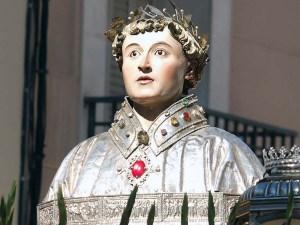 Busto de San Lorenzo en su día grande / Foto: C.Pascual