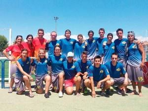 Pablo Baltasar el segundo de abajo a la derecha con la selección sub20 / Foto:  Bolskandisc Ultimate Huesca